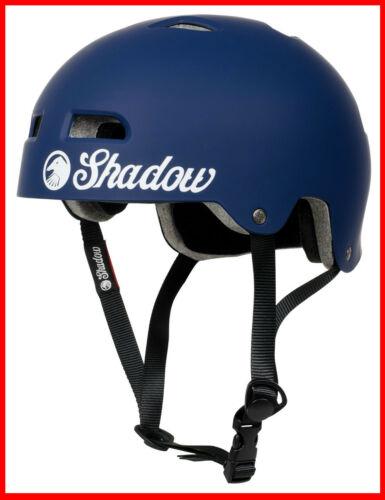 SHADOW CONSPIRACY CLASSIC HELMET LG XL BMX BIKE BICYCLE MATTE BLUE NEW