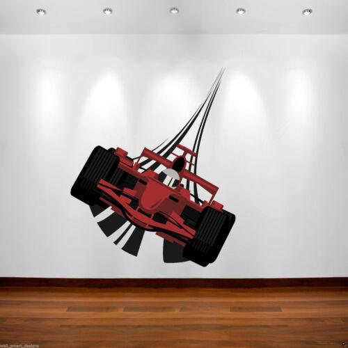 Full Colour F1 Racing Car Wall Art Sticker Decal Mural Boys Bedroom Transfer