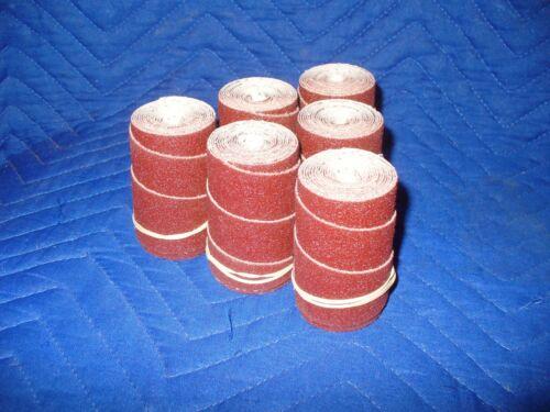 6 Precut sanding strips//rolls for Performax Jet 10-20 Drum Sander 60 Grit.