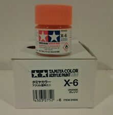 Tamiya acrylic paint.X-6 Orange 10ml Mini.
