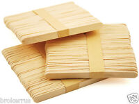 100 Natural Wood Popsicle Craft Sticks Flat 4 3/8 X 5/16 Wooden Crafting