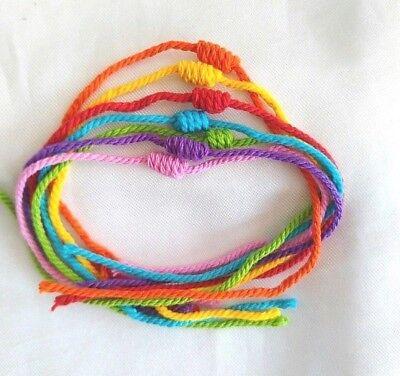 Rope sai sin Bracelet Kruba krai Yant Thai amulet Rich Wealth Luck Protect Life