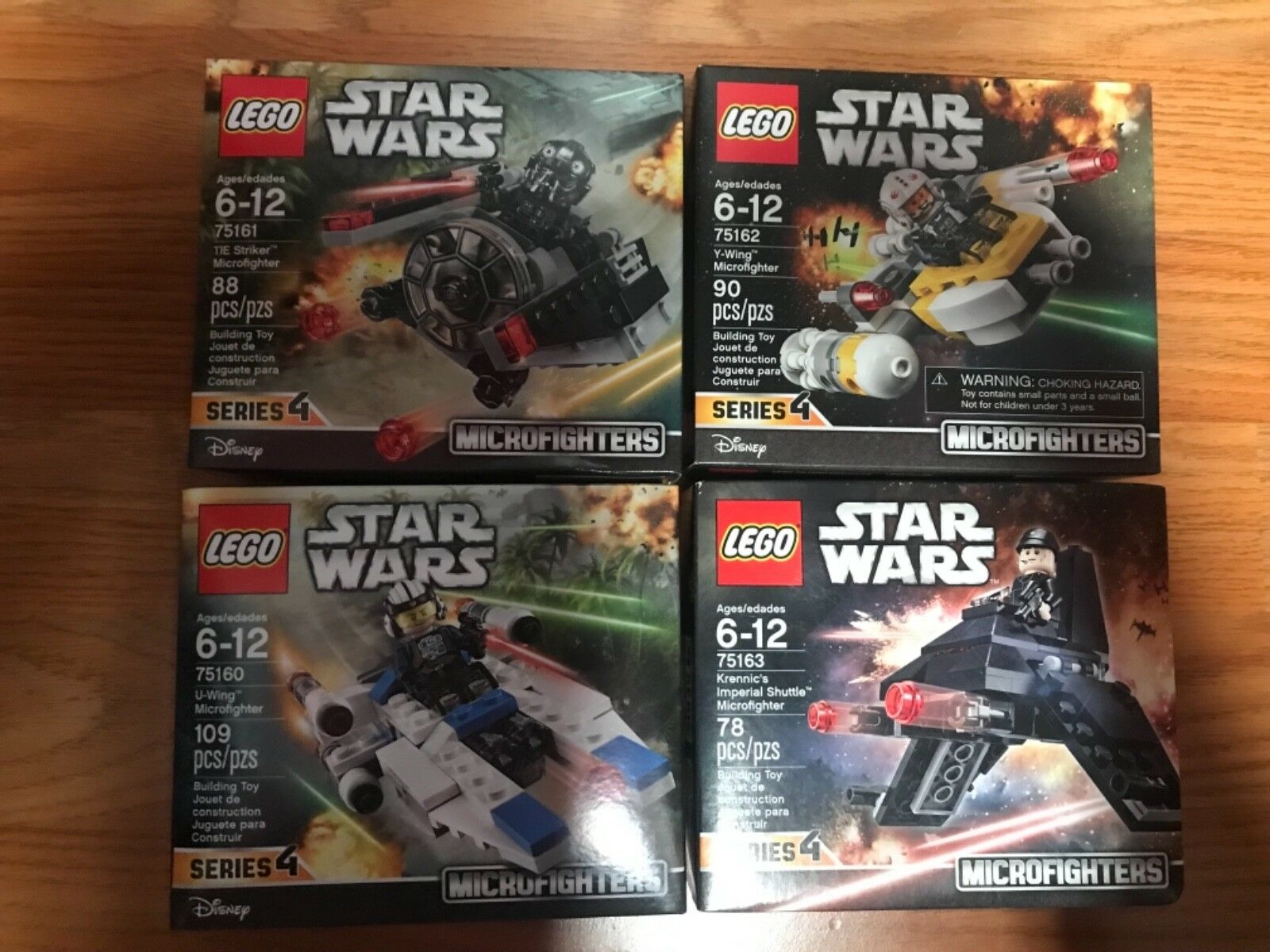 LEGO Star Wars 75160 U-Wing, 75161 TIE Striker, 75162 Y-Wing, 75163 Krennic's