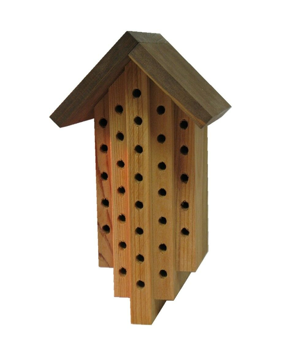 Case of 20 Cedar Mason Bee Houses Unfinished-Handmade in our Shop-Wholesale Lot