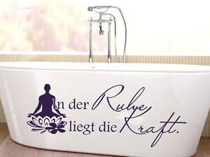 Details zu Wandtattoo Wandsticker Tattoo für Badezimmer Spruch In der Ruhe  liegt Wellness