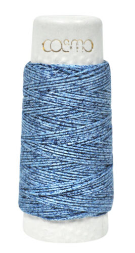 Cosmo Hidamari Sashiko Variegated Thread 30 Meters Denim Blue