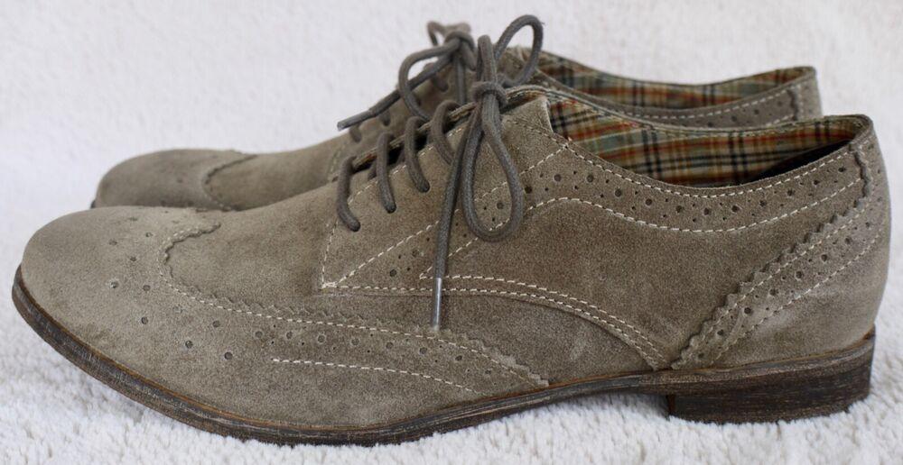 White Stuff Beige Gris En Daim À Lacets Plat Chaussures Uk 6 Prix De Vente Conseillé Entièrement Neuf Dans Sa Boîte £ 59.95
