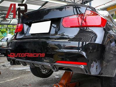 F30 328i 335i Sedan Wagon w// M Sport Rear Bumper Carbon Fiber Diffuser For 2012