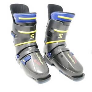 Salomon-HTC-93-EXP-Unisex-Ski-Boots-Gray-Blue-325-25-5-Men-US-7-5-Women-US-8-5