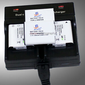 Dual-Charger-4x-Li-90B-Li-92B-Battery-for-Olympus-TG-1-TG-2-TG-3-TG-4-TG4-Tough