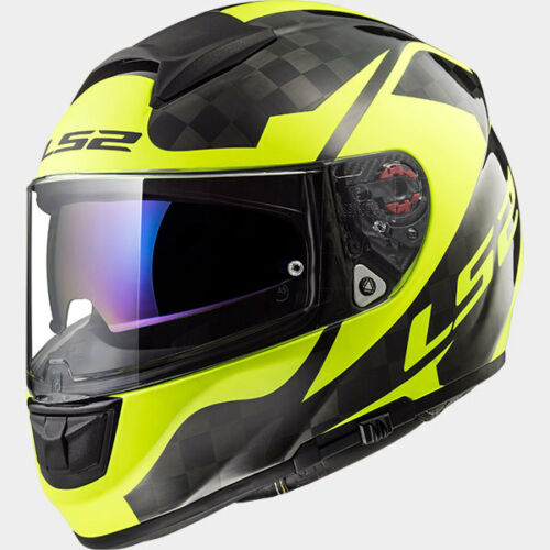 LS2 CASCO ROAD TOURING VECTOR C EVO FF397 SHINE CARBON H V YELLOW FULL FACE