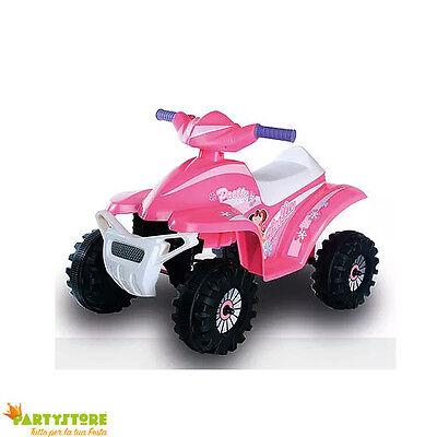 mini QUAD elettrico a batteria 6v per bambini quattro ruote scatolato ROSA