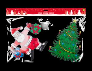 Géant Noël fenterbild Film Ventouse Décorations Nikolaus Arbre Schneeman