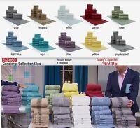 Hsn Concierge Collection 100% Turkish Cotton 13-piece Soft Towel Set