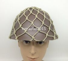 WWII JAPANESE 90 ARMY HELMET WITH CUTTON NET COVER CAMOUFLAGE NET