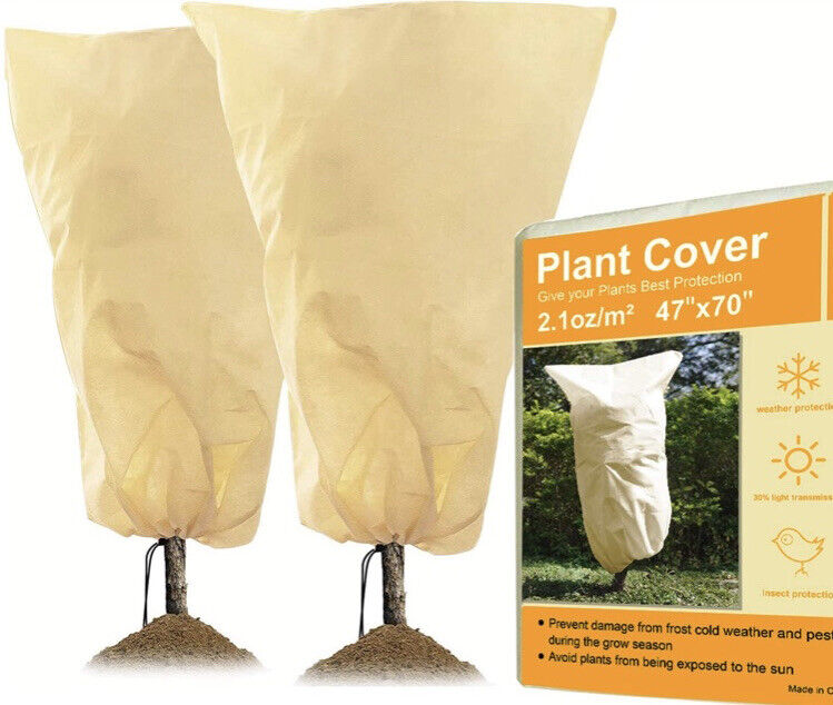 10 Plant Covers 32 X 47 in. Each (5-2 Packs) Frost & Freeze Protection