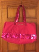 Victorias Secret Pink Large Getaway Duffle Weekender Tote Bag