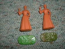Elastolin 70mm Unpainted Settlor Western Colonial Ladies x2