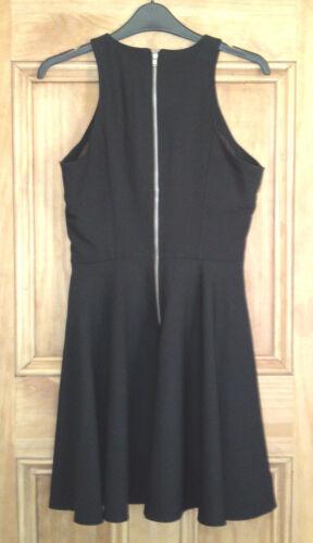 Miss Selfridge New Black Mesh Skater Dress Sizes 6 8 10 Bnwot Rrp=£45.00