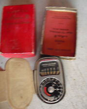 Vintage Weston MAster II Flash Exposure Meter in Box with Booklet