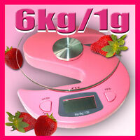 G&g 6000g/1g Küchenwaage Briefwaage Digital-waage Ks-pink