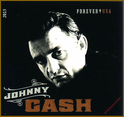 4789 Johnny Cash Man in Black Imperf Single Stamp fr Press Sheet No Die Cuts