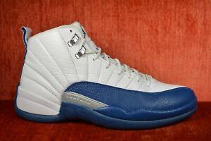 de5b6490ca4 CLEAN Nike Air Jordan 12 French Blue Size 9 XII Retro White 130690 ...