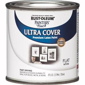 Image Is Loading Rustoleum Flat White Latex Paint