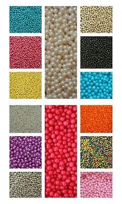 Commestibile Zucchero Palline Di Perle/confetti 4 Mm - 50 G Multi Listing-