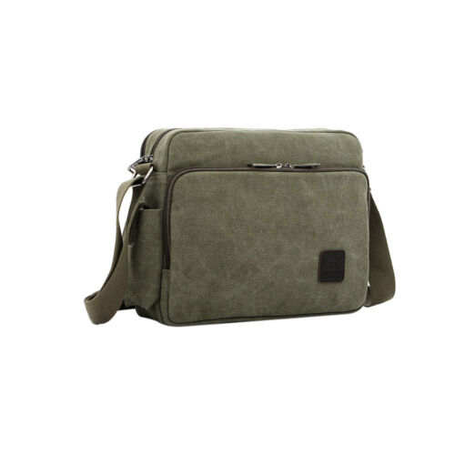 Multi-Pockets Men/'s Canvas Messenger Shoulder Bag Crossbody Sling School Satchel