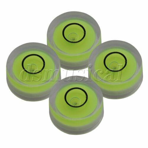 4x Tiny Disc Bubble Spirit Round Level for LP Record Player 12x6mm