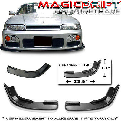 Universal Front Body Kit Lip Canards Flippers Splitters SW11 SW20 AE100 AE111 PU