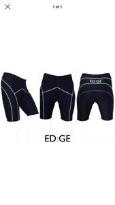EDGE Sports Mens Padded Cycling Bike Shorts Black Green Large - Birmingham, United Kingdom - EDGE Sports Mens Padded Cycling Bike Shorts Black Green Large - Birmingham, United Kingdom