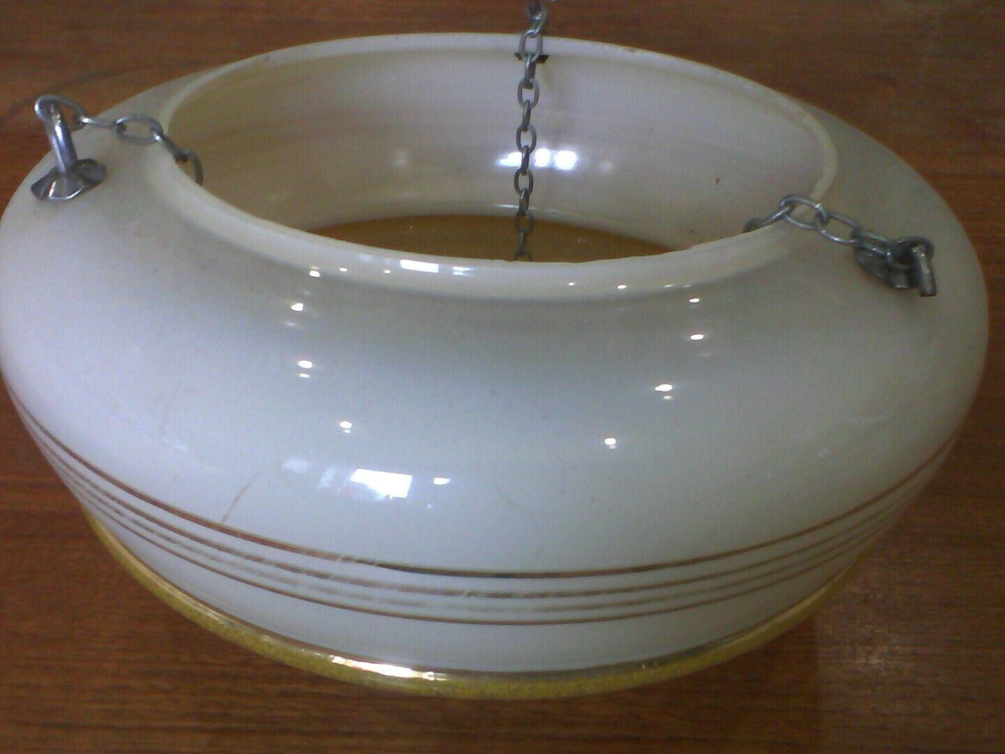Vintage Ceiling Flycatcher Hanging Bowl with.original chains