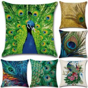 cushion cover peacock feather   45x45cm
