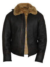 Men's B3 Bomber Aviator Ginger Brown Original Sheepskin Leather Flying Jacket