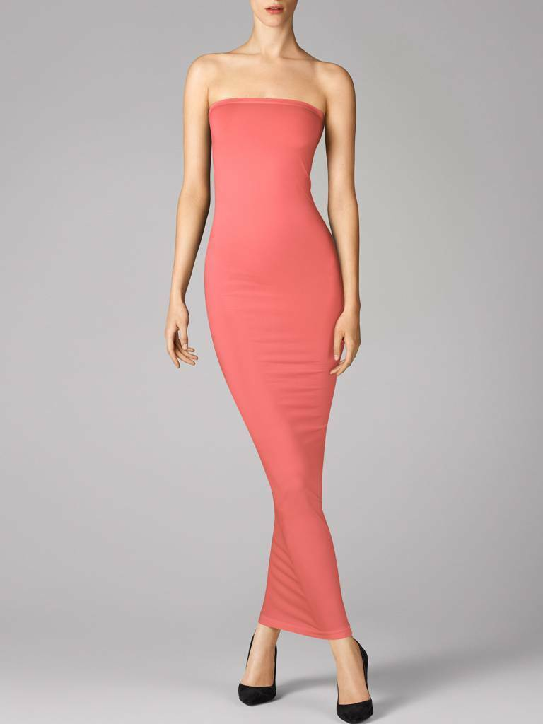 WOLFORD FATAL TUBE DRESS in Mid Coral, Size XS  Ret  New in Box Tags