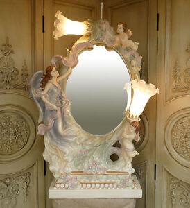 tischspiegel engel barock engelsfigur putto putti spiegel. Black Bedroom Furniture Sets. Home Design Ideas