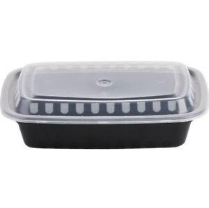 Image Is Loading 150 Case 24 Oz Black Take Out Microwavable