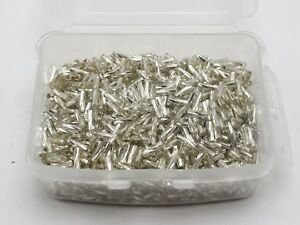 2000-Glass-Tube-Twisted-Bugle-Seed-Beads-2X7mm-White-Silver-Lined-Storage-Box