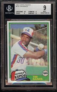 1981-Topps-Traded-816-Tim-Raines-Rookie-RC-Montreal-Expos-BGS-9-Mint-PSA-9