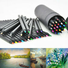 24 Colors Oil Art Pencils for Drawing Sketching Artist Non-toxic Colour Gift US