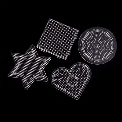 4Pcs//lot Square Round Star Heart Perler Hama Beads Peg Board Pegboard for2.6mm.Z