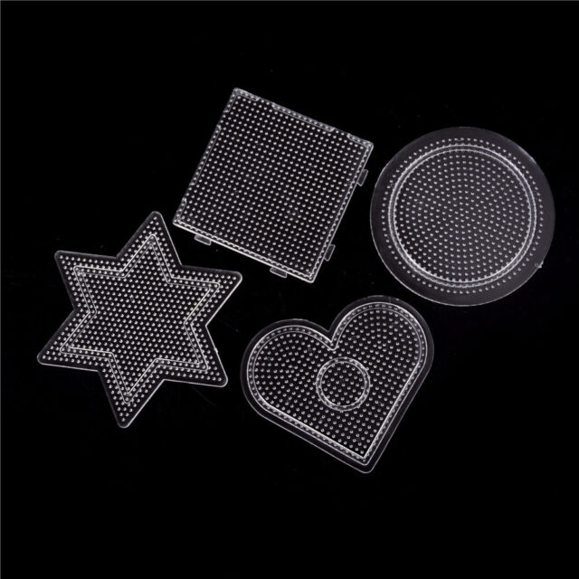 4Pcs/lot Square Round Star Heart Perler Hama Beads Peg Board Pegboard for2.6mmPT