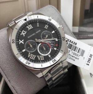 Big-Sale-Michael-Kors-Brecken-Chronograph-Watch-MK8438-Silver-tone