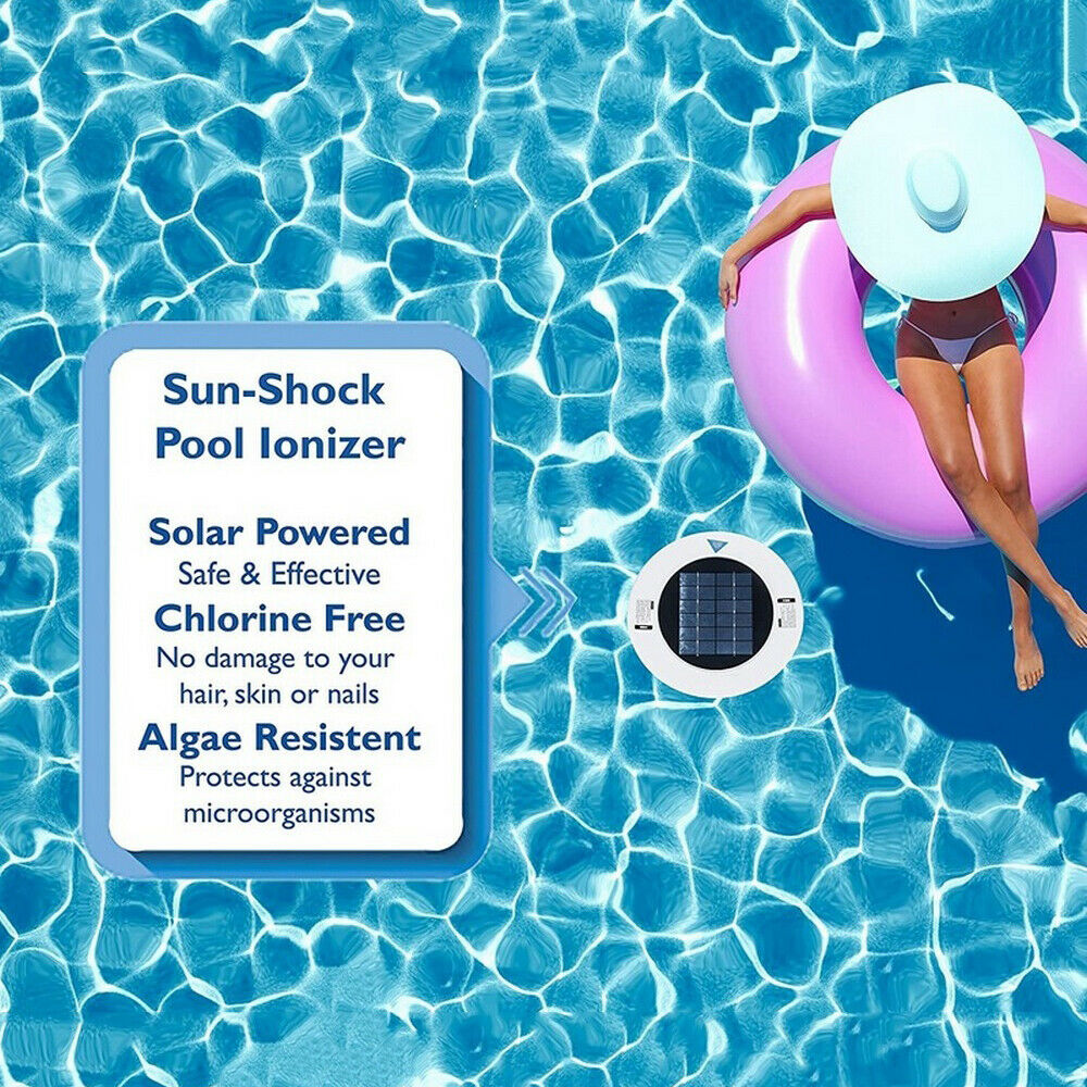 Swimming Pool Purifier Solar Generator Copper Silver Ion Swimming Water Cleaning