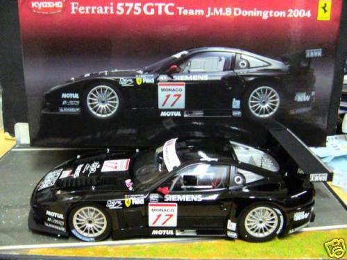 Ferrari 575 GTC 575gtc FIA GT 2004 JMB traité Donington siemens  17 1 18 Kyosho