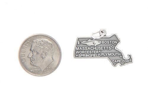Sterling Silver Massachusetts State Charm//Pendentif
