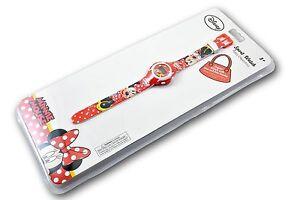 Disney-Kinderuhr-Rot-Weiss-Digital-Minnie-Maus-Mouse-D-60412111664350