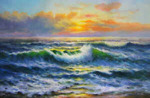 ZOPT560-100-handmade-painted-seascape-sea-wave-oil-painting-art-canvas
